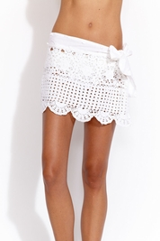 Letarte Crochet skirt in white