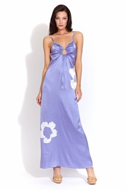 Letarte Long center ring dress in periwinkle FINAL SALE