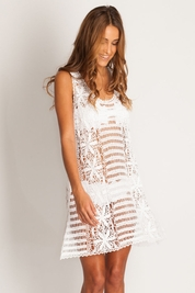 Letarte Racerback crochet dress in white FINAL SALE