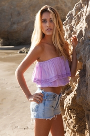 Soleil Blue Julia Tube top in orchid