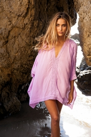 Soleil Blue Linda Poncho in orchid FINAL SALE