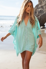 Soleil Blue Linda Poncho in sea glass FINAL SALE