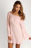 Soleil Blue Marilyn tunic in blush FINAL SALE