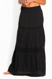 Soleil Blue Rosemary maxi skirt in black FINAL SALE