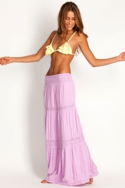 Soleil Blue Rosemary maxi skirt in orchid FINAL SALE