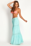 Soleil Blue Rosemary maxi skirt in sea glass FINAL SALE