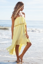 Soleil Blue Tracy dress in buttercup FINAL SALE