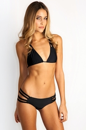 Tori Praver Shyla bikini top in black *FINAL SALE*