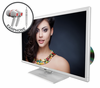 "E245WD-FHDR 24"" LED 108P HDTV COLOR SERIES WITH DVD and FREE EARPHONES"