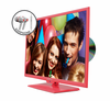 "E325PD-HDR 32"" PINK SERIES WITH DVD PLAYER and FREE EARPHONES"