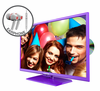 "E325UD-HDR 32"" 720P Purple Series with DVD and FREE EARPHONES"