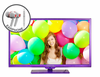 "E325UV-HDR 32"" 720P Purple Color Series with FREE EARPHONES"