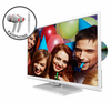 "E325WD-HDR 32"" 720P White Series with DVD and FREE EARPHONES"
