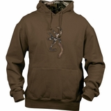 SPG's Women's Browning Buckmark Camo Hooded Sweatshirt - Chocolate