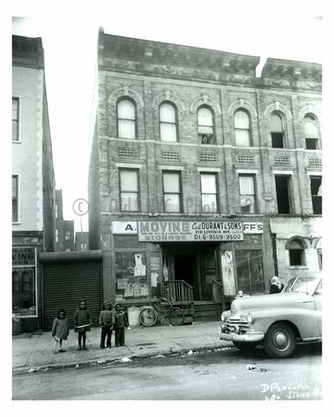 1960 Kids on the sidewalk in front of 280 Stone Ave - Brownsville Brooklyn NY