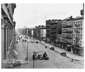 1st Ave view north from between 68th & 69th  1935 - Upper East Side - Manhattan - New York, NY