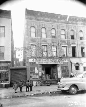 280 Stone Avenue showing new young residents of Brownsville, 1953