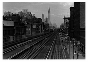 3rd Ave L looking Uptown from 14th Street - Lower East Side  - Downtown Manhattan