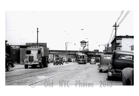 Trucks, Cars & Trolleys 5th Ave & 39 St. - 5th Ave trolley line