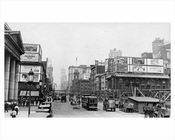 7th Avenue looking north facing 33rd Street from Penn Station - Chelsea Manhattan 1914 NYC