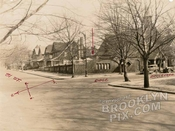 81st Street and Ridge Boulevard, showing church, 1929