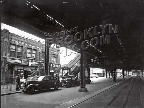 86th Street looking northwest to Bay Parkway, 1940