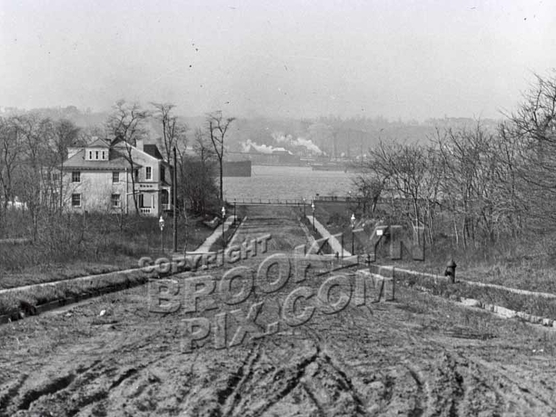 87th Street looking toward Narrows Avenue and New York Bay, Staten Island in the distance, 1912