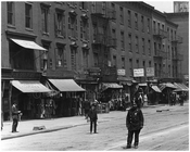 A cop on 7th Avenue walking the beat in Chelsea Manahattan 1916