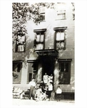 A family  infront of their building in Park Slope  - 1930 - Brooklyn NY