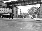 Adelphi Street, north from Myrtle Avenue, 1940