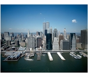 Aerial view of Manhattan with the World Trade center in view