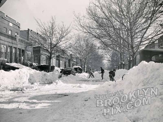 Aftermath of the December 1947 blizzard