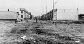 Alabama Avenue looking north from Linden Boulevard under construction, 1930