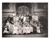 All Girls School Children Class Photo Manhattan NYC