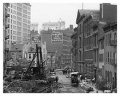 Alternate view of Prince Street construction with S.A. Maxwell & Co. Wallpaper  - Soho - New York, NY 1901