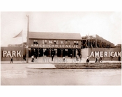 American League Baseball Stadium New York Highlanders 1913 (before the Yankees were relocated and renamed)