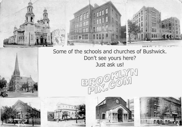An assortment of Bushwick churches and schools _ ask about yours!