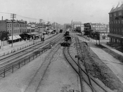 Atlantic Avenue looking east from Snediker Avenue, 1890s
