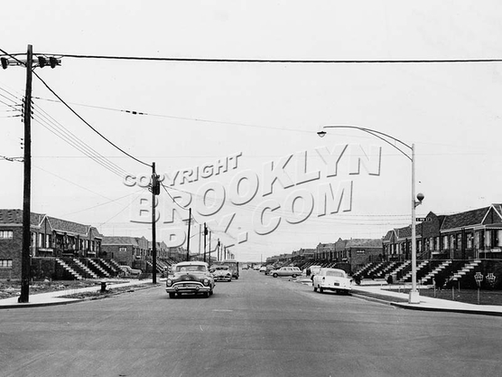 Avenue L, looking east from East 99th Street, 1957