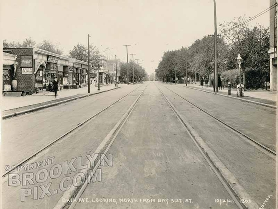 Bath Avenue looking northeast from Bay 31st Street, 1921