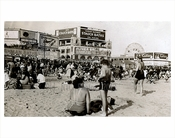 Beach crowd at Coney Island