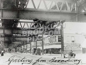 Beneath Broadway Brooklyn El prior to rebuilding, 1911