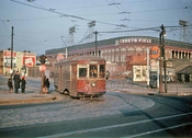 Best Ebbets Field color photo taken from Empire Boulevard and Franklin Avenue