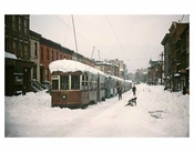 Blizzard with Trolleys Crown Heights Brooklyn NY
