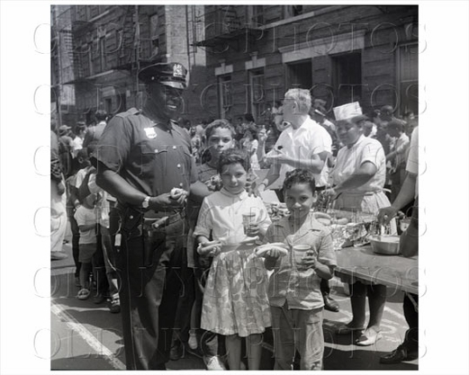 Block party at Powell Street Brownsville 1958