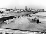 Boardwalk under construction east from Steeplechase Pier at West 17th Street, 1922