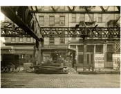 Bowery - east side - between Delancey & Broome Street 1915