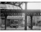 Bowery - view east at  Hester Street  1915