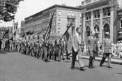 Boy Scout Parade--Anniversary Day, June 10, 1948--at Fourth Avenue and 52nd Street