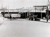 Brighton Beach and LIRR Manhattan Beach elevated structure at Kings Highway when new, 1908